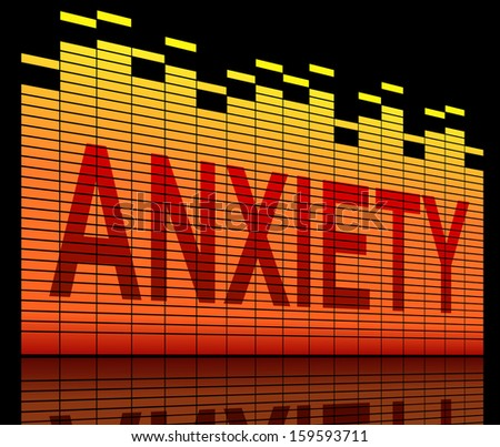 Illustration depicting equalizer levels with an anxiety concept. - stock photo