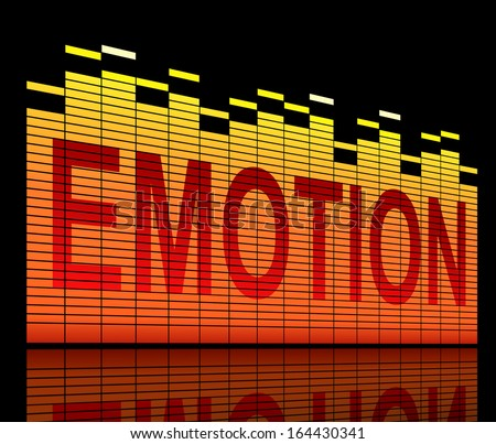Illustration depicting graphic equalizer level bars with an emotion concept. - stock photo