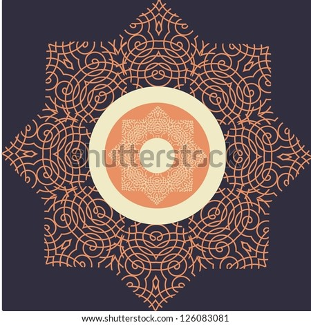 illustration drawing of ornamental frame vector format background - stock photo