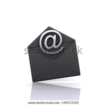 Illustration - email - stock photo