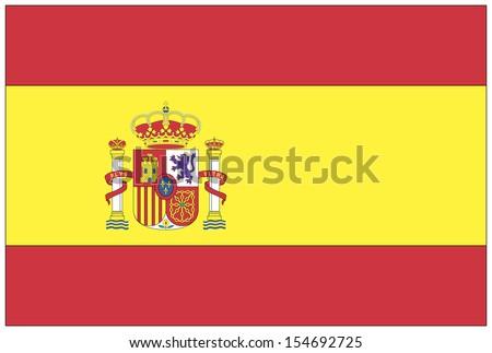 illustration: flag: Spain. - stock photo