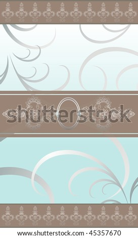 illustration for food industry, menu, chocolate box, cover, label for wine. Gradient silver background.