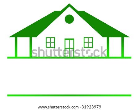 Illustration for real estate with free space for your logo, slogan or message - stock photo