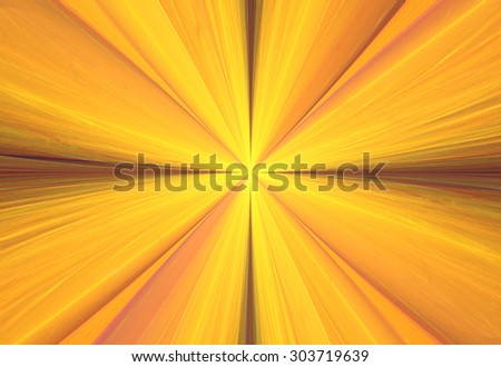 Illustration fractal abstract background bright sun rays