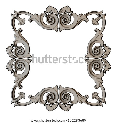 illustration framework, the sculptural form on a white background - stock photo