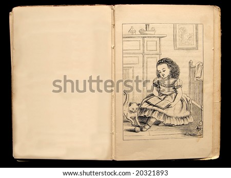 Illustration from 1884 children's book - stock photo