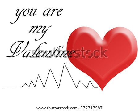 Illustration greeting card valentines day red stock illustration illustration greeting card for valentines day with a red heart and a black line of an m4hsunfo