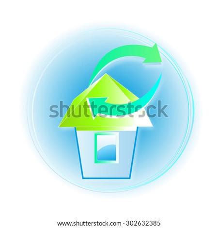 illustration. house. - stock photo