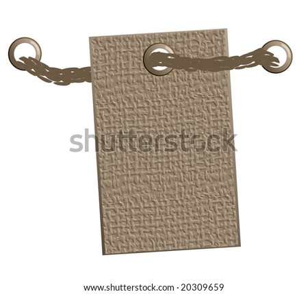 Illustration: jute label. For the vector version see my portfolio please (click on my name) - stock photo