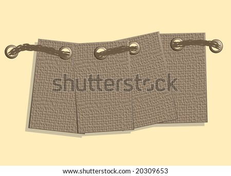 Illustration: jute labels. For the vector version see my portfolio please (click on my name) - stock photo