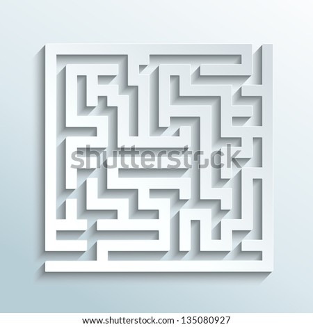 illustration - labyrinth made of paper