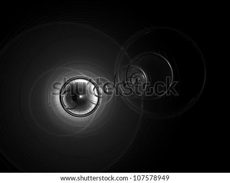 Illustration - Light in the dark background. - stock photo