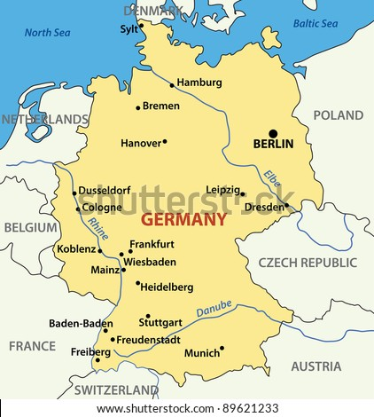 illustration map of germany