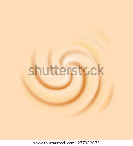 Illustration milk cream texture, creamy sweet surface - raster - stock photo