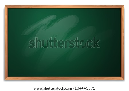 Illustration of a blackboard on white - EPS VECTOR format also available in my portfolio.