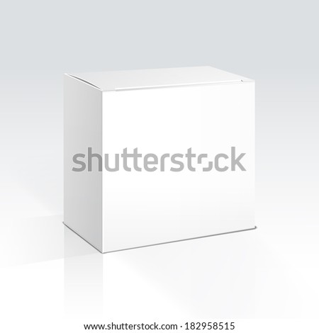 Illustration of a Blank Box - stock photo