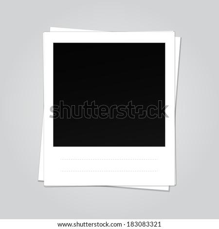 Illustration of a Blank Photo Frame - stock photo