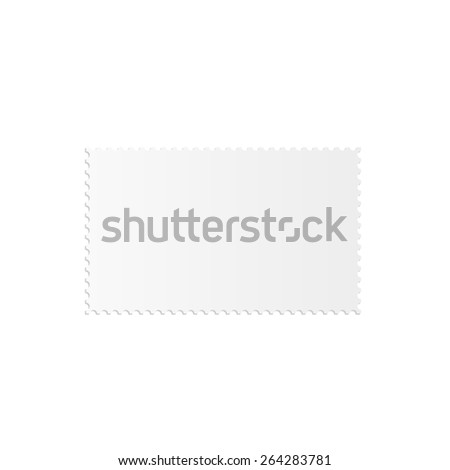 Illustration of a blank stamp isolated on a white background. - stock photo