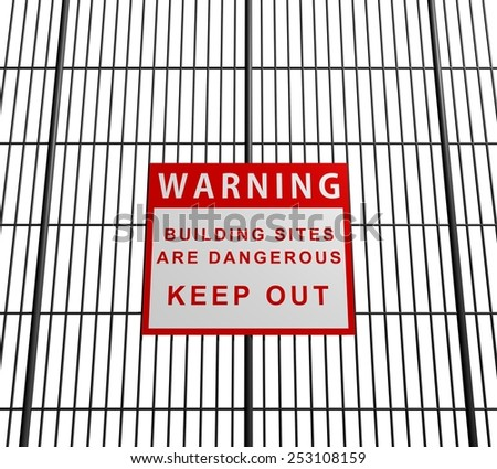 Illustration of a building site sign - stock photo