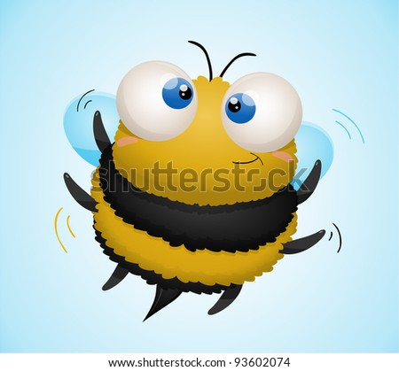 illustration of a bumble bee - stock photo