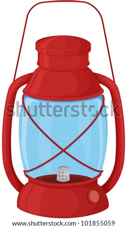 Illustration of a camping lantern on white - EPS VECTOR format also available in my portfolio.