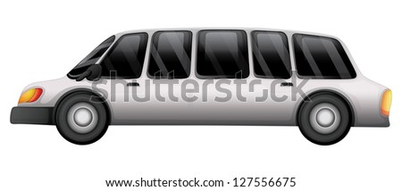 Illustration of a car with a tinted glass on a white background - stock photo