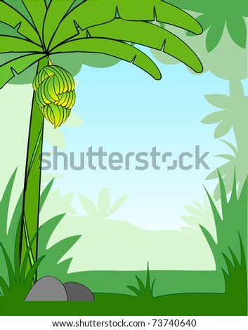 illustration of a cartoon background - stock photo