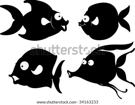 Illustration of  a cartoon fish on white (vector available in portfolio)