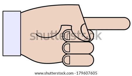 Illustration of a cartoon hand pointing