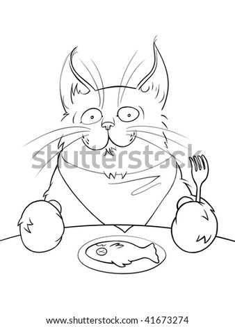 Illustration of a cat - stock photo