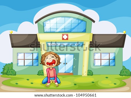 Illustration of a child crying - EPS VECTOR format also available in my portfolio. - stock photo