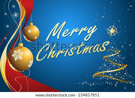 illustration of a christmas element on red background - stock photo