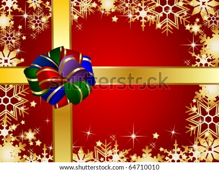 Illustration of a christmas present background