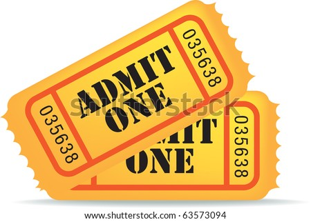 illustration of a cinema ticket on white background