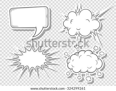 illustration of a collection of comic style speech bubbles