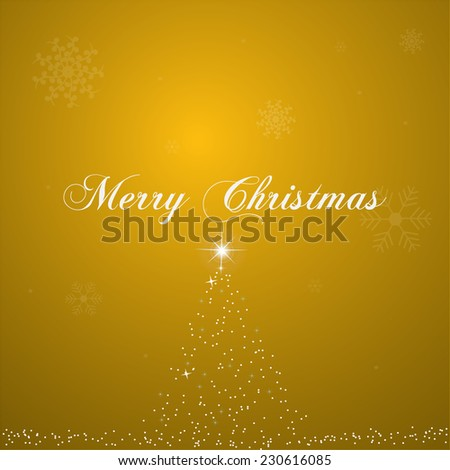 Illustration of a colorful gold Christmas background.