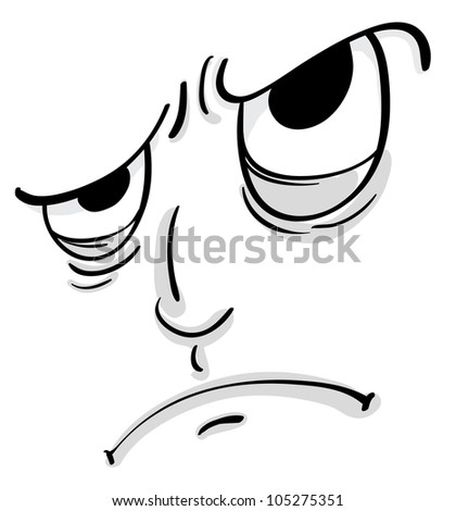 Illustration of a comical facial expression - stock photo