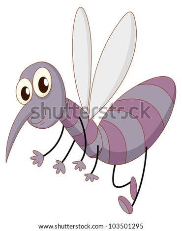 Illustration of a comical mosquito - EPS VECTOR format also available in my portfolio. - stock photo