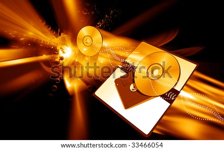 Illustration of a Compact disk	 - stock photo