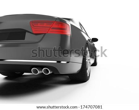 illustration of a concept sports sedan - stock photo