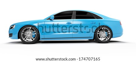 illustration of a concept sports sedan - stock photo