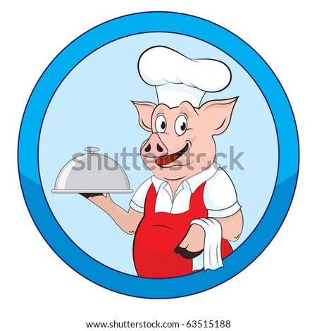 illustration of a cook - stock photo
