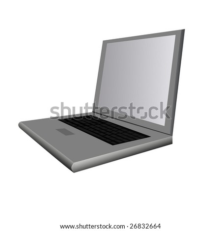 Illustration Of a Cool Looking Laptop