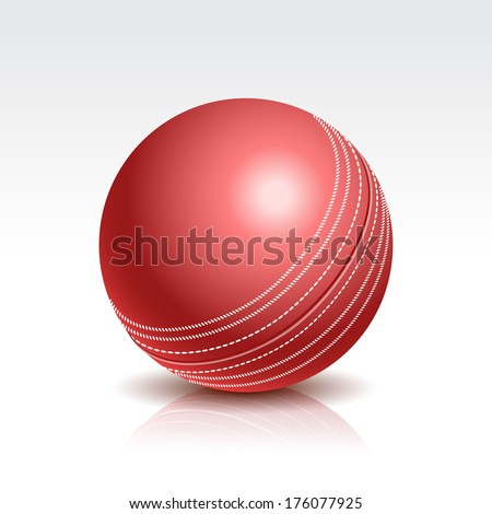 Illustration of a Cricket Ball Isolated on White Background