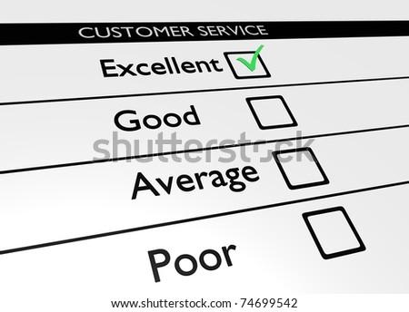 Illustration of a customer service poll - stock photo