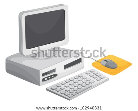 Illustration of a desktop computer - EPS VECTOR format also available in my portfolio.
