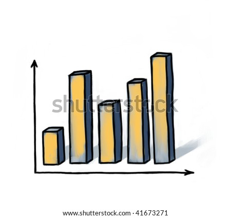 Illustration of a diagram. - stock photo