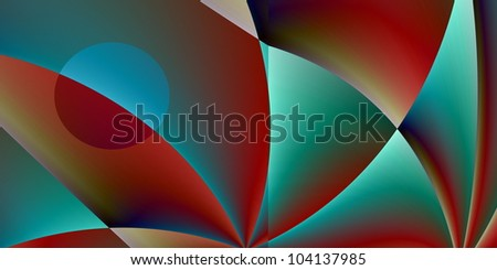 illustration of a digital art work in big size / digital art work - stock photo