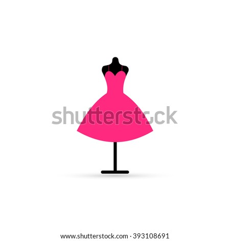 illustration of a dress on a mannequin.