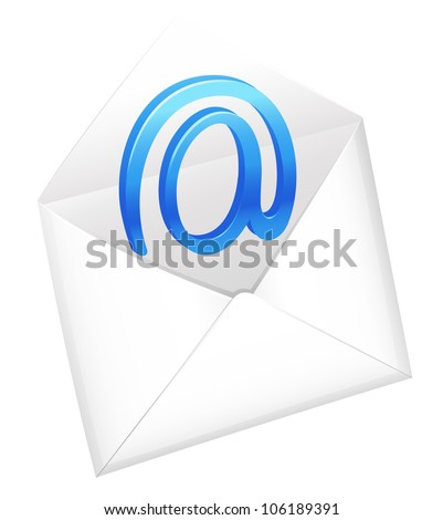 illustration of a envelop on a white background